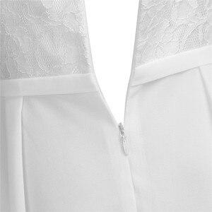 Image 5 - IEFiEL 2020 Sommer Echt Fotos Weiß/Elfenbein Spitze Blumen Mädchen Kleider Für Hochzeiten Kinder Prom Ballkleid Kleider Für geburtstag Party