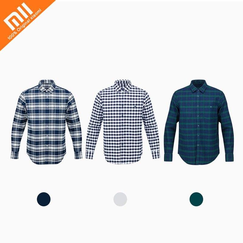 xiaomi 90 points men's flannel shirt 100% cotton