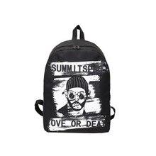 YIYONGFINE Graffiti Backpack For Women Personality Campus Student Bag Fashion Large Capacity Travel Organizer Black