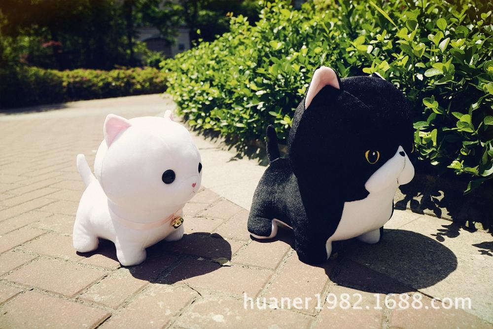 30cm Japan short legged Munchkin cat pillow Plush toy doll cat kids ...