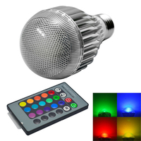 Intelligent E27 10W RGB LED Bulb Smart Lighting Lamp Colorful Dimmable Lights Bulb With Remote Control