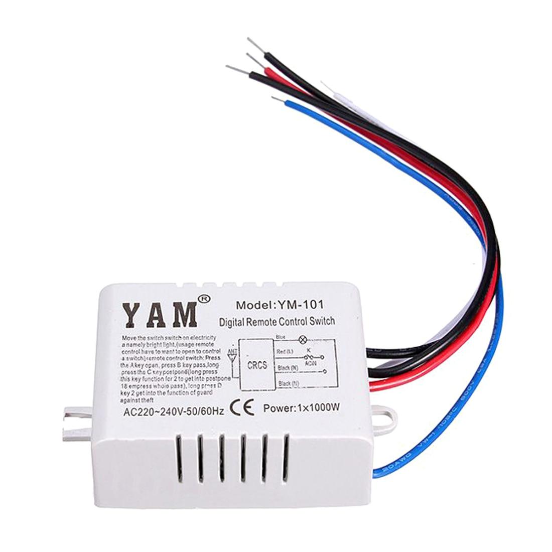 yam ac 220v wireless light lamp digital switch with remote control [ 1100 x 1100 Pixel ]
