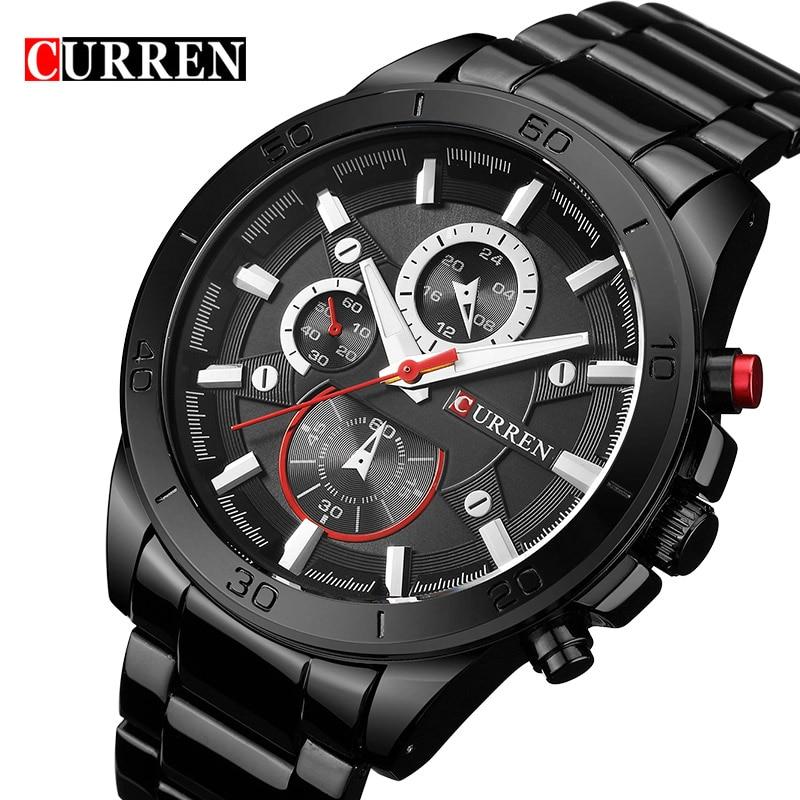 Reloj de lujo de marca Curren, reloj de pulsera para hombre, reloj de cuarzo masculino, reloj de moda informal, reloj para hombre, xfcs
