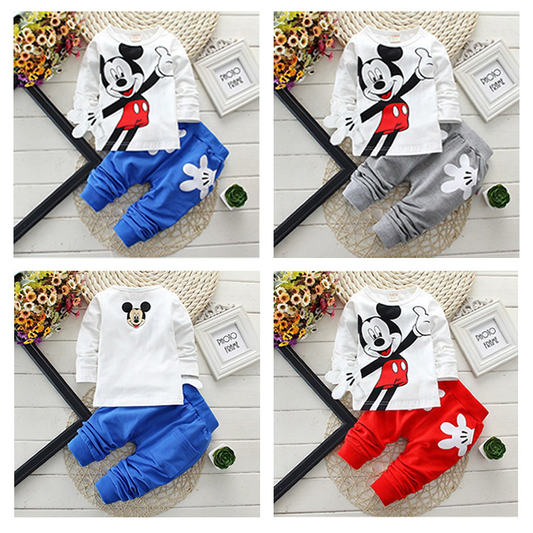 2pcs Infant Boys Girl Kids Baby Bebe Toddler Long Sleeve T shirt+Pants Set Tracksuit Outfit Suits Clothes Child Cartoon Clothing 2017 baby clothing set boy cotton long sleeve t shirts pants infant bebe boys clothes set toddler kids cloth set camouflage