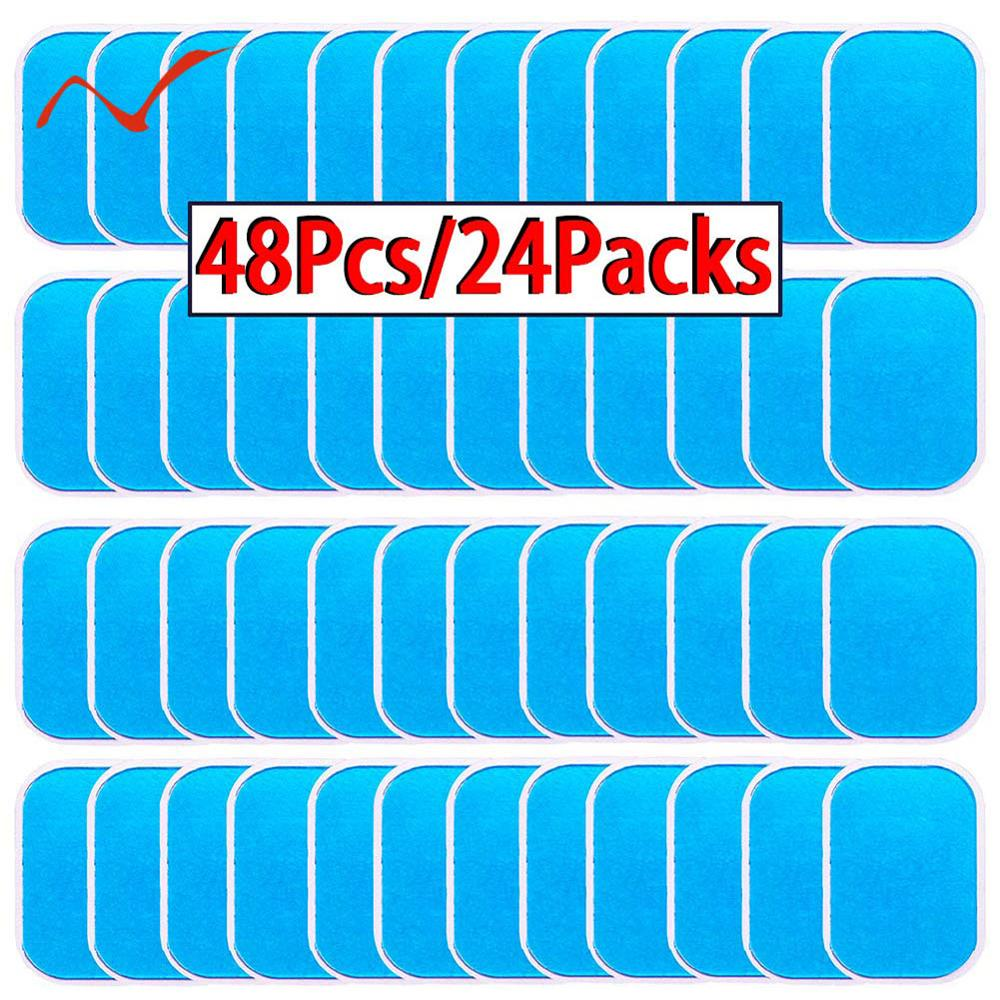 48 Pcs Gel Pads For EMS Abdominal Trainer Muscle Stimulator Exerciser Slimming Machine Accessories|Accessories| - AliExpress