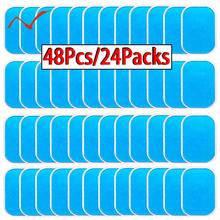 48 Pcs Gel Pads For EMS Abdominal Trainer Muscle Stimulator Exerciser Slimming Machine Acce