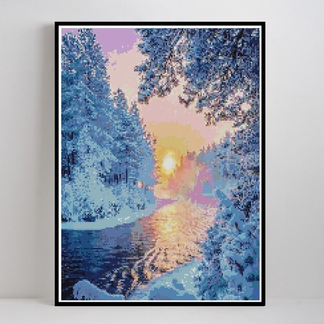 Diamond Painting Snow Scenery Winter Landscape