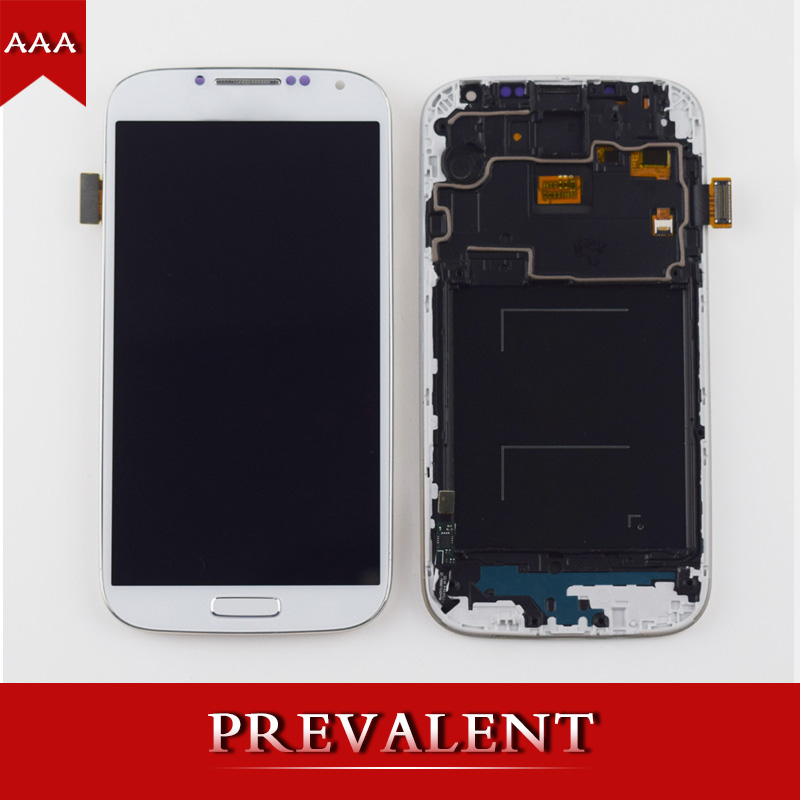 2 Colors For Samsung Galaxy S4 i9500 i9505 i337 919 720T i545 L720 LCD Display + Touch Screen Digitizer Sensor Assembly + Frame