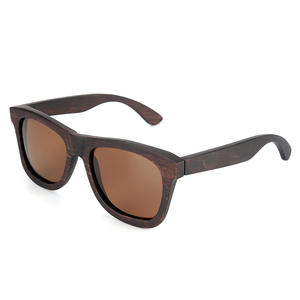 Image 3 - Bobo bird okulary 편광 된 에보니 우드 선글라스 브라운 그레이 렌즈 uv400 아이웨어 수제 맞춤형