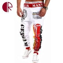 Горячая! 2016 новый зимний свободного покроя мужские бегунов брюки марка высокое качество гарем хип-хоп письмо печать брюки мужчины танцуют фитнес штаны