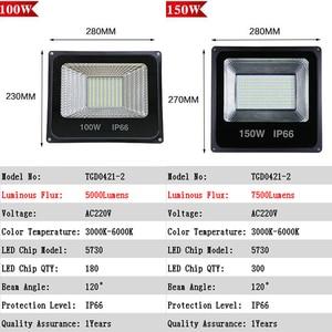 Image 3 - LED Flood Light 30W 50W 100W 150W 200W 300W  400W 500W High power AC220V Waterproof IP66 Spotlight Outdoor Garden Lamp Lighting