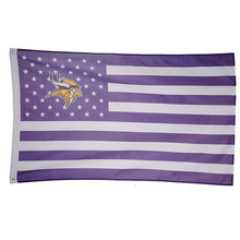 1 pcs American minnesota vikings Flag with white line 90*150 cm 3×5 ft rugby game team flags and Banners Free shipping