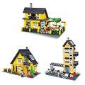 449-546 PCS Blocos de Construção DIY Educacional Villa Toy Presente para Crianças Compatíveis com Lego