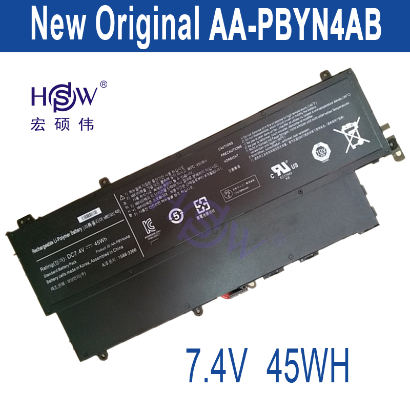 HSW New  7.4V 45Wh AA-PBYN4AB Battery for Samsung UltraBook 530U3C NP530U3B NP530U3C 530U3C-A01 530U3C-A02 530U3C-A03 new laptop battery for samsung 900x4d np900x4c np900x4b np900x4c a01 aa pbxn8ar