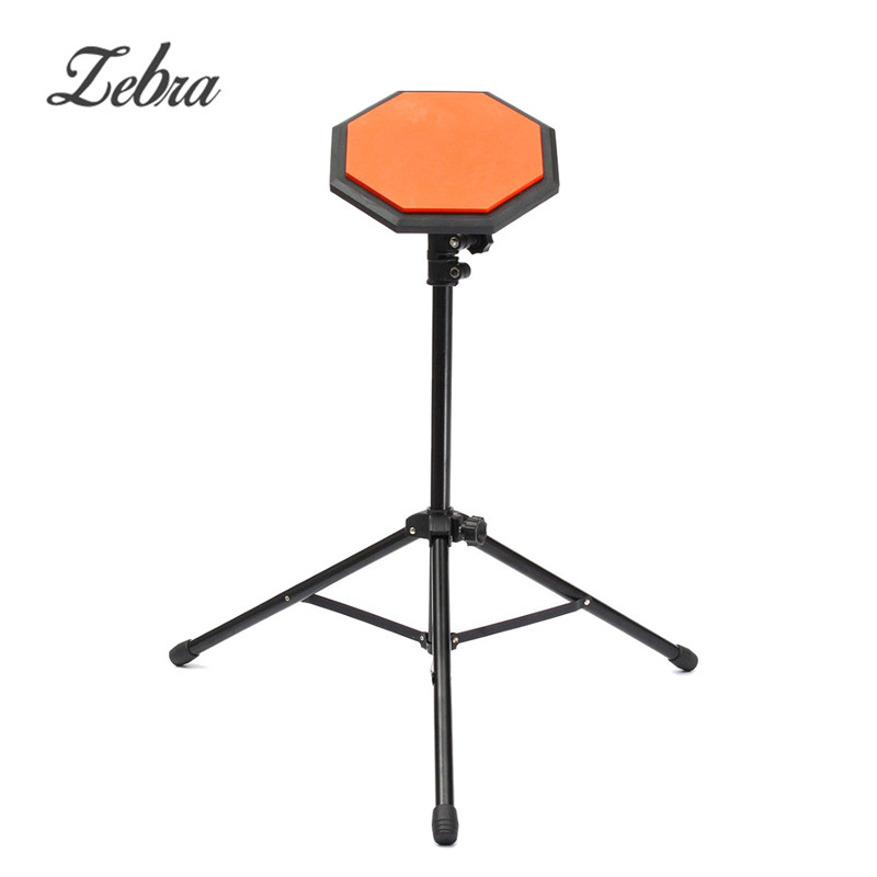 8 inch Metal+ Rubber Dumb Drum Drummer Exercise Training Pad with Adjustable Holder Stand & Case Cover for Drum Beginners