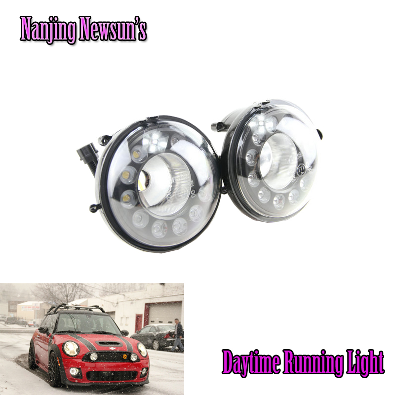 1Set IP68 100% Waterproof Led Daytime Running Light For Bmw Mini Cooper R55 R56 R57 R58 R60 R61 DRL Fog Lamps Assembly Kit 12Led набор приспособлений для обслуживания грм двигателя bmw n12 mini cooper jonnesway al010079