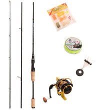 2.1m M Carbon  Rods setBaitcasting Fishing Rod Casting Spinning Fishing Rod Reel Set and & Small fishing reels,12bb,5.2:1 2000