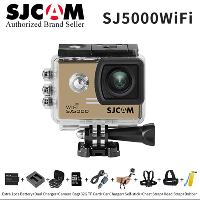 Original SJCAM SJ5000 WiFi 14MP H.264 1080P Sport Action Camera 30M Waterproof mini sports DV Helmet Camcoder vs SJ5000X go pro