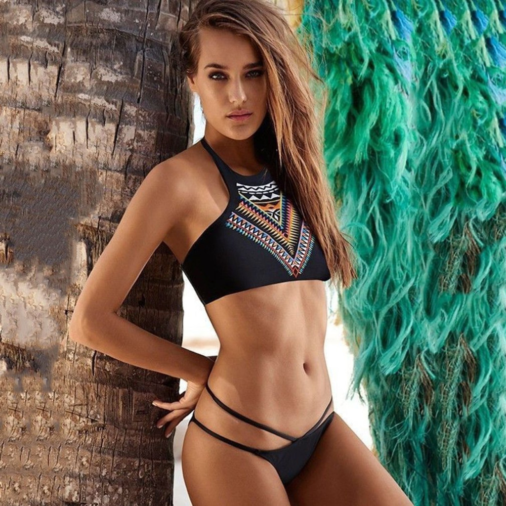 2019 New Summer Women <font><b>Sexy</b></font> <font><b>Bikini</b></font> Set Push-up UnPadded Bra Swimsuit Swimwear <font><b>Triangle</b></font> Bather Suit Swimming Suit biquini image