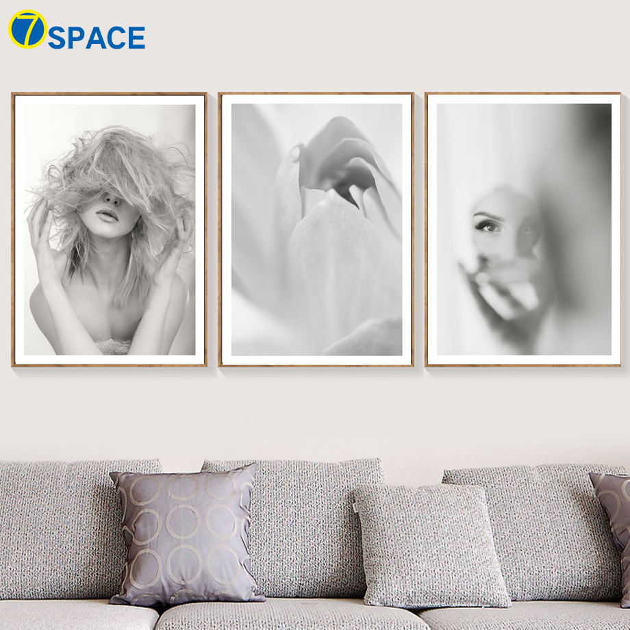 Abstract Flower Girl Nordic Posters And Prints Wall Art Canvas Painting Retro Poster Pop Pictures For Living Room Decor