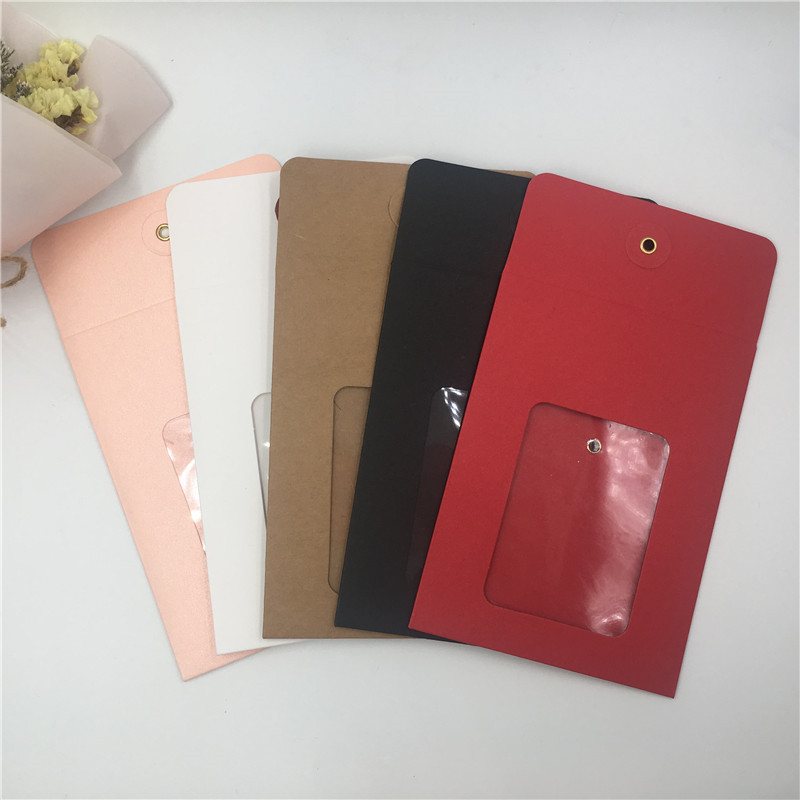 30Pcs Bags 14x10.5cm Multiple Styles Paper Craft Retro Envelop Packing Jewelry Novelty Cards Bags Case