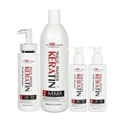 Geen Formaline Professionele Behandeling Haar Rechttrekken Magic Master Keratine + Zuiverende Shampoo + Daliy Shampoo & Conditioner