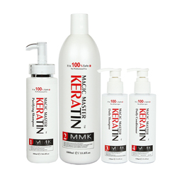 No Formalin Professional Treatment Hair Straightening Magic Master Keratin+Purifying Shampoo+Daliy Shampoo&Conditioner