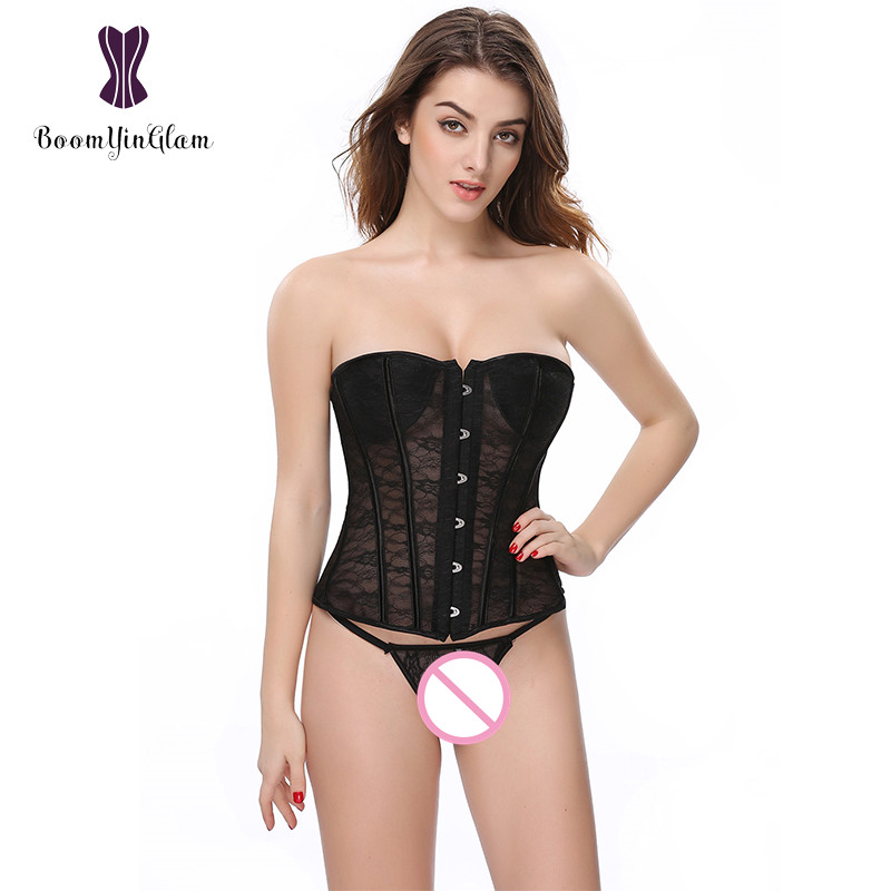 High Quality Sexy Floral Lace   Corset   Slimming Waist Intimates Applique Shapewear Bodysuit Women   Bustiers   &   Corsets   832#