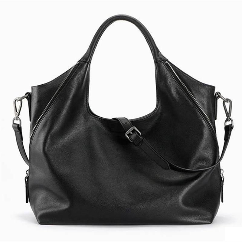 100% sacs hobo en cuir véritable pour femmes sac à bandoulière Designer sacs à main de haute qualité femme sac à bandoulière de luxe sacs à poignée supérieure-in Sacs à bandoulière from Baggages et sacs    2