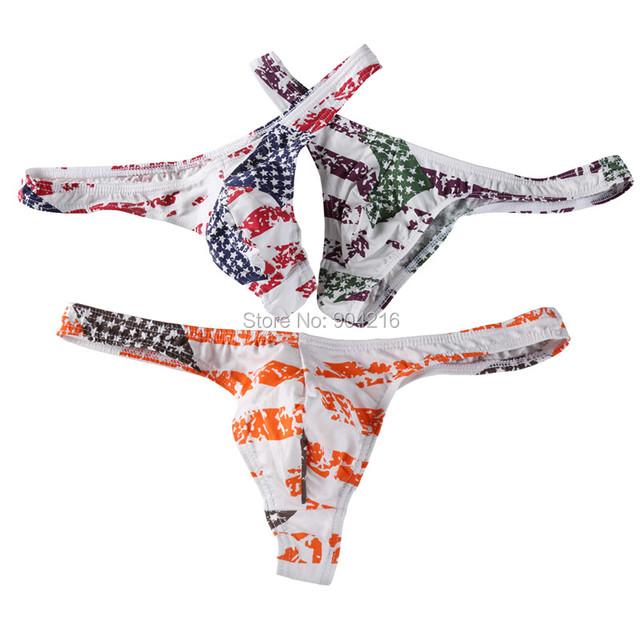 3 pçs/lote nacional dos eua bandeira listrada mens thongs e g cordas confortável e ventilação elástico dos homens g cordas thong underwear
