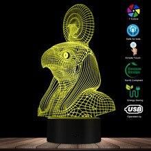 Vintage dios del sol egipcio Horus Falcon Dios lámpara de noche Egipto mitología 3D ilusión óptica noche luz novedad lámpara de mesa