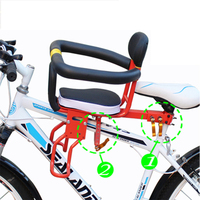 Electric Mountain Road Bike Seat Comfort And Safety Widening Children S Bicycle Chair Front Seat Mat