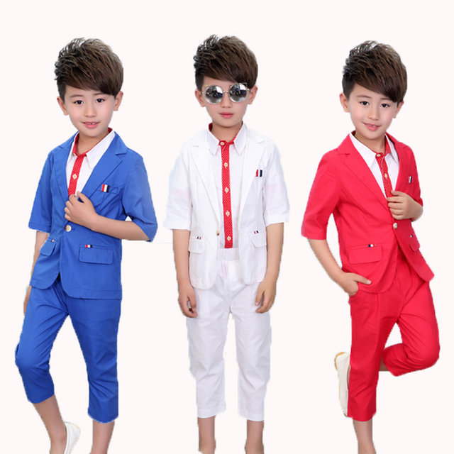 Baby Prom Suits ( blazers + shirts + Pant ) Summer Wedding Flower ...