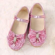 Children's princess shoes 2020 new girls sequins wedding children baby children