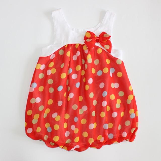 Cute colors dots tutu dress baby girl dress, sleeveless summer dress,fashion cute sweet baby clothes HB0136