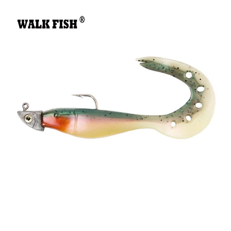 Walk fish 4pcs lot 13cm soft fishing lure carp hard for Hard and soft fishing