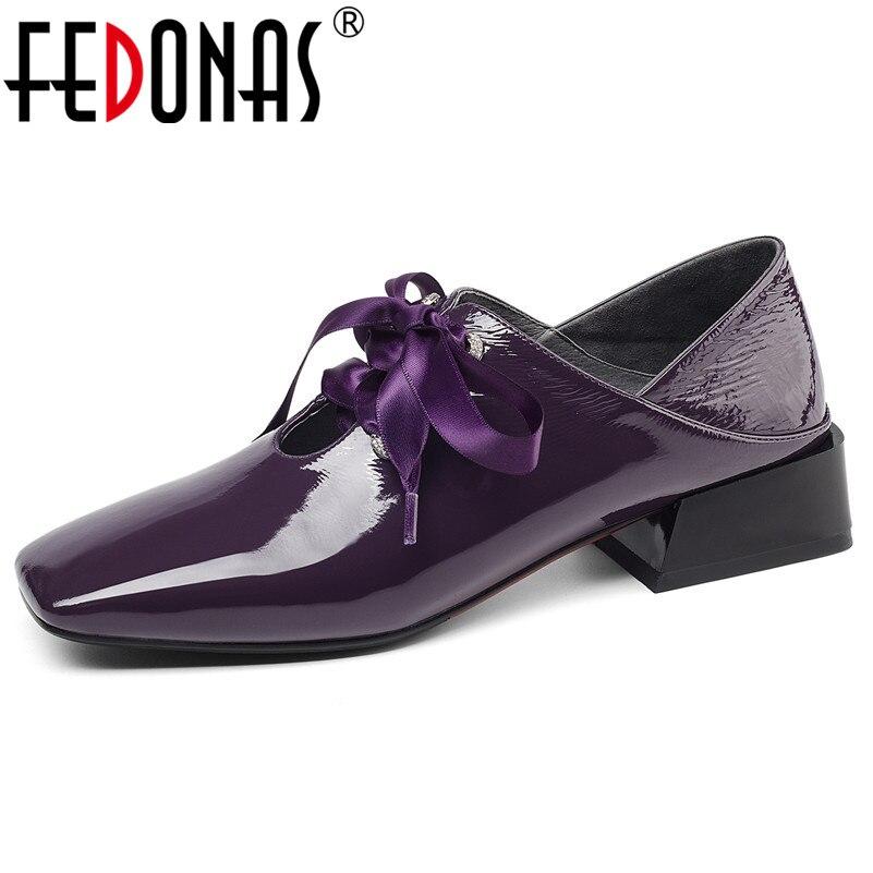 FEDONAS Casual Frauen 2019 Marke Design Mit Hohen Absätzen Hohe Qualität Aus Echtem Leder Frauen Pumpen Neue Ankunft Mode Schuhe Frau-in Damenpumps aus Schuhe bei  Gruppe 1