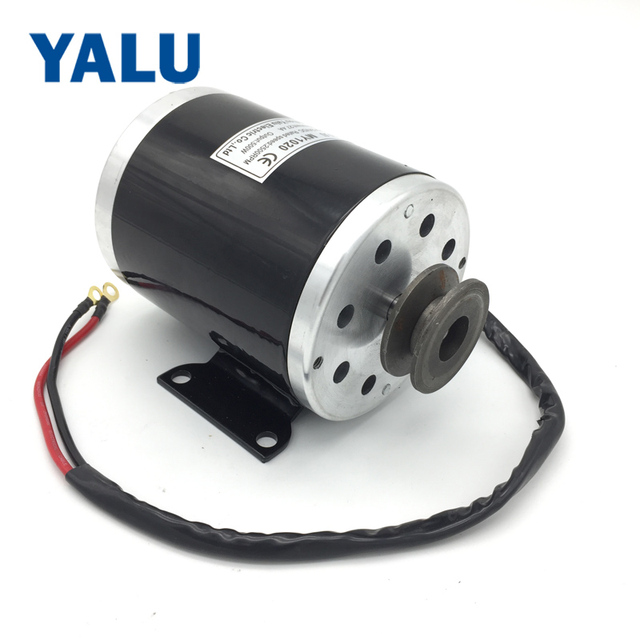 YALU MY1020 500W 24V Electric Ebike Conversion Kit Accessory Scooter  Ekart E-ATV Small Electric Car motor with Belt Pulley