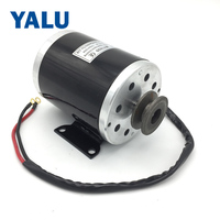 YALU MY1020 500W 24V Electric Ebike Conversion Kit Accessory Scooter Ekart E ATV Small Electric Car motor with Belt Pulley