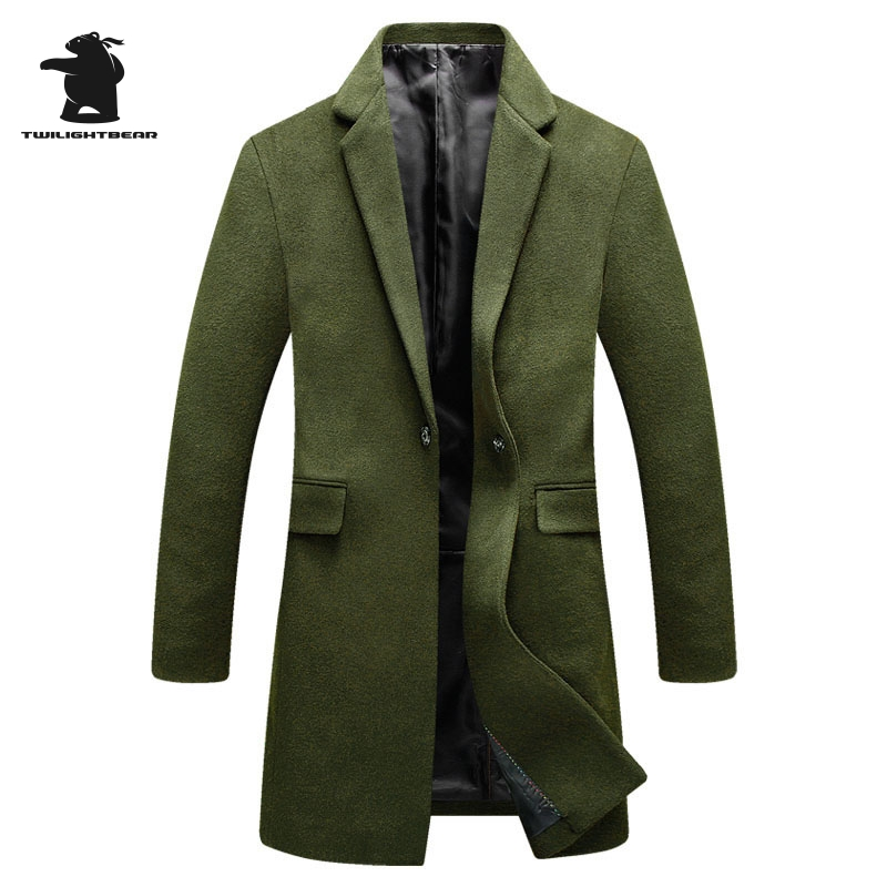 New Mens Wool Coat Winter Fashion High Quality Plus Size Wool Parka Coat For Men Overcoat Casaco Masculino M~3XL BF1855