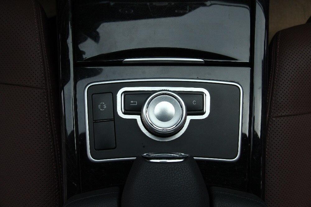 Perilla Multimedia Interior de aleación de aluminio, anillo decorativo, embellecedor de cubierta de botón para Mercedes Benz GLK X204, accesorios para coche