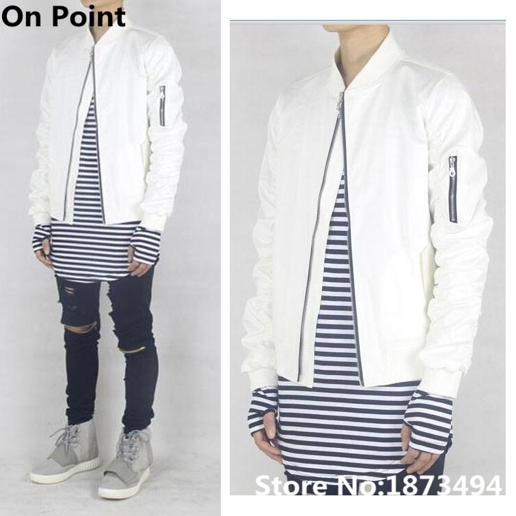 White Satin Baseball Jacket Promotion-Shop for Promotional White ...