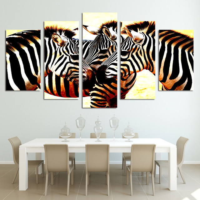 Canvas Schilderij Wall Art Abstract Decoratieve Frames Pictures Voor ...