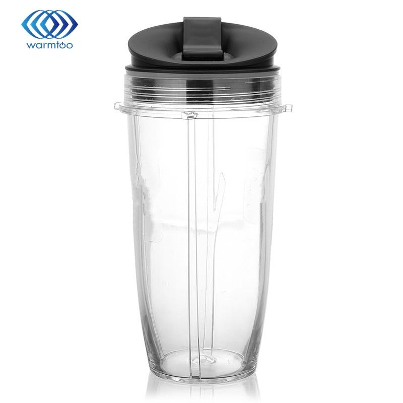 18oz Juicer Blender Extractor Cup + Sip Seal Lids For Nutribullet Ninja 2016 Durable Quality