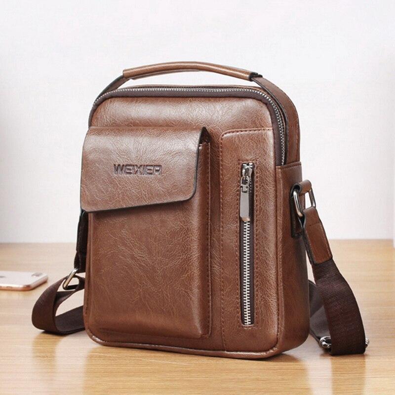 Laamei New Men Travel Bags Cool PU Pack Fashion Men Messenger Shoulder Bags Square Handbags For Men Crossbody Bags