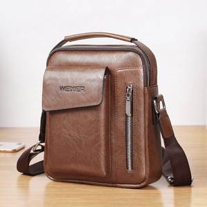Laamei Square Handbags Crossbody-Bags Messenger Cool Fashion Men for Pu-Pack New