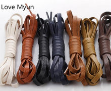 Cotton cord flat shape shoelaces unisex high top casual leather boot shoe laces fashion brand waterproof shoelace for men woman(China)