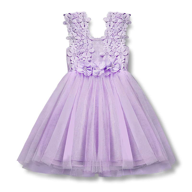 Summer Baby Girl Dress Fancy Gown for Infant 2 6T Little Girls Party Holiday Causal Formal Tulle Clothes Children Clothing Wear