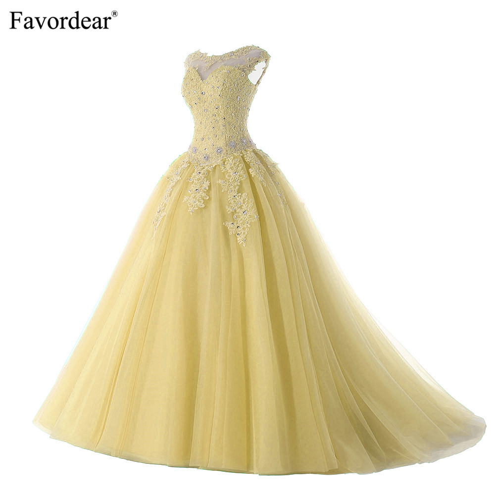 Favordear 2019 Quinceanera 15 Years Vestidos De 15 Anos Cap Sleeve Champagne Red Pink Lavender Quinceanera