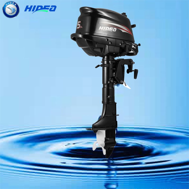hidea cheap boat motors long shaft 4 stroke 5hp outboard